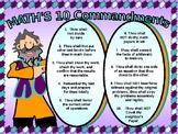 POSTER:  Math:  10 Commandments