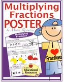 """POSTER - Multiplying Fractions - 3 Methods - 24"""" x 36"""""""