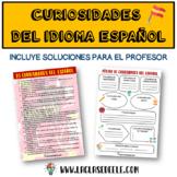 PÓSTER PERSONALIZABLE SOBRE CURIOSIDADES DEL IDIOMA ESPAÑOL (DÍA DEL ESPAÑOL)