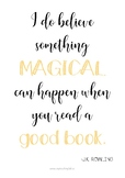 POSTER - QUOTE J.K. ROWLING