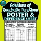 POSTER - Solutions (Zeros)  of Quadratic Functions
