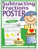 "MATH POSTER - Subtracting Fractions - 3 Methods - 24"" x 36"""