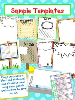 POSTER Templates Fun Creative addition to your assigment by