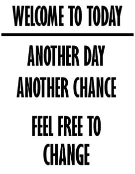 POSTER: Welcome to today