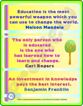 POSTER- famous quotations