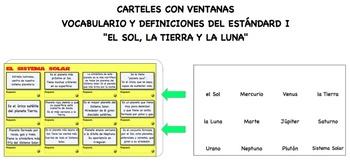 """POSTER/JUEGO """"EL SOL, LA TIERRA Y LA LUNA"""" (Science Core related)"""