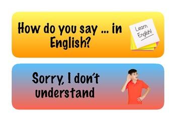 POSTERS CLASSROOM LANGUAGE