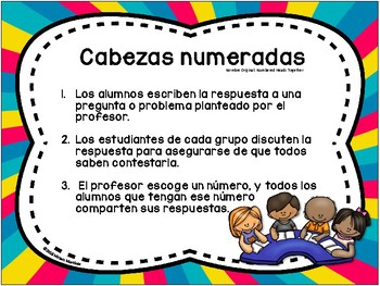POSTERS DE APRENDIZAJE COOPERATIVO / Spanish cooperative learning posters