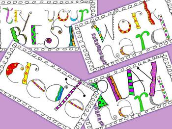 POSTERS - Inspirational words to INSPIRE your learners!