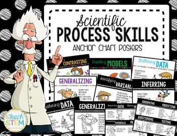 STEM Scientific Process Skills Anchor Chart Posters - 5 Versions