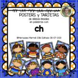 POSTERS y TARJETAS de sílabas iniciales en palabras con ch (en ESPAÑOL)