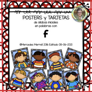 POSTERS y TARJETAS de sílabas iniciales en palabras con f (en español)