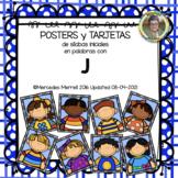 POSTERS y TARJETAS de sílabas iniciales en palabras con j (en ESPAÑOL)