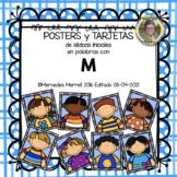 POSTERS y TARJETAS de sílabas iniciales en palabras con m (en ESPAÑOL)