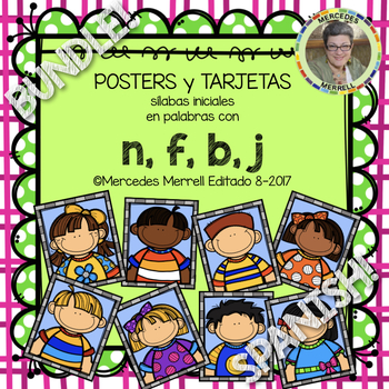 POSTERS y TARJETAS de sílabas iniciales en palabras con n,