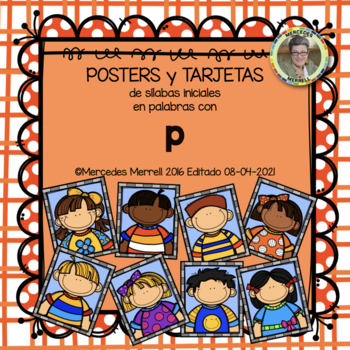 POSTERS y TARJETAS de sílabas iniciales en palabras con p