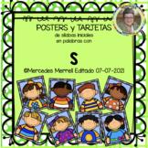 POSTERS y TARJETAS de sílabas iniciales en palabras con s (en ESPAÑOL)