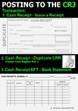 POSTING TO THE CASH RECEIPTS JOURNAL - SOURCE DOCUMENTS - POSTER