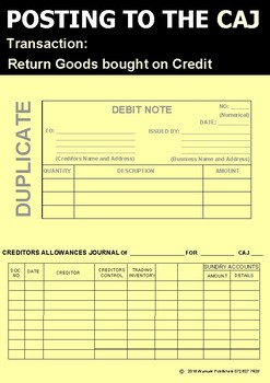 POSTING TO THE CREDITORS ALLOWANCES JOURNAL - SOURCE DOCUMENTS - POSTER