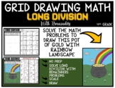 POT OF GOLD WITH RAINBOW Grid Drawing Math Puzzle LONG DIVISION WITH REMAINDERS