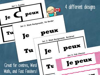 FREE POUVOIR Verb Cards: for Word Walls, Conjugation Races, & Puzzles!