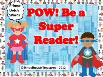 POW! Be A Super Reader - Primer Word Game