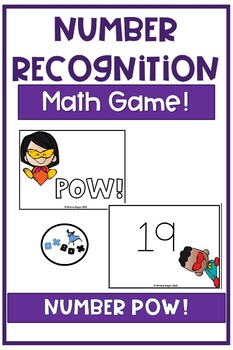 POW Number Recognition Math Game