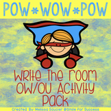 Vowel Teams OW and OU | Write the Room Game and Printables