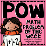 POW: Problem of the Week  (Multi-Step Challenge Math for Younger Kids) YEARLONG!