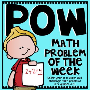 Problem Of The Week Teaching Resources | Teachers Pay Teachers