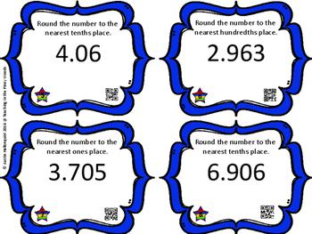 POW Rounding Decimals Game with QR Codes