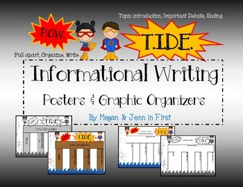 P.O.W. T.I.D.E. Informational Writing Graphic Organizers and Posters