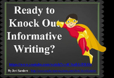 POW TIDE Informative Writing Power Point for Third Grade