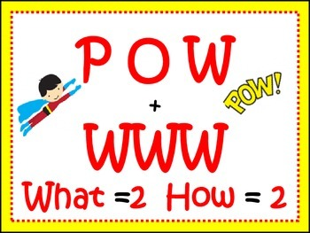 POW Writing ( POW + WWW What =2, How = 2)