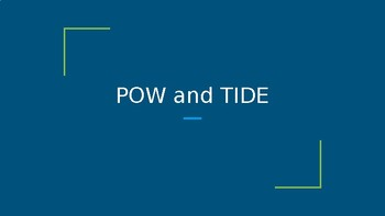 POW and TIDE