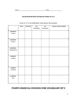 POWER IN WORDS  ELA COMMON CORE ACADEMIC VOCABULARY ACTIVITY BOOK (FOURTH GRADE)