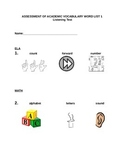 POWER IN WORDS KINDERGARTEN COMMON CORE VOCABULARY ASSESSMENTS