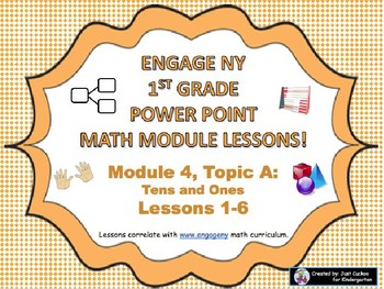 POWER POINT Slides:  1st Grade Engage NY Module 4, Topic A lessons (1-6)!