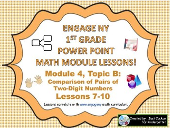 POWER POINT Slides:  1st Grade Engage NY Module 4, Topic B lessons (7-10)!