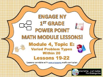 POWER POINT Slides:  1st Grade Engage NY Module 4, Topic E lessons (19-22)!