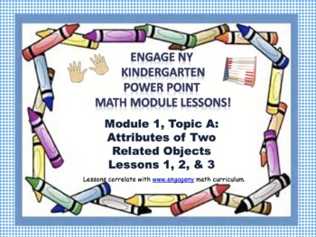 POWER POINT Slides: ENY Kindergarten Module 1, Topic A lessons 1-3!