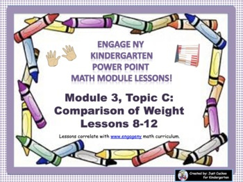 POWER POINT Slides: ENY Kindergarten Module 3, Topic C lessons 8-12!