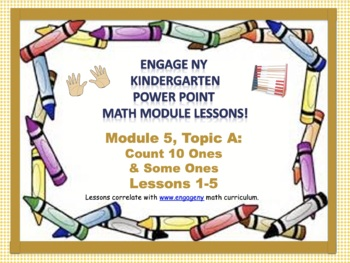 POWER POINT Slides: ENY Kindergarten Module 5, Topic A lessons 1-5!