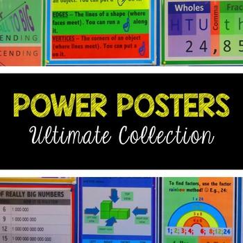 POWER POSTERS - ULTIMATE BUNDLE - MATHEMATICS