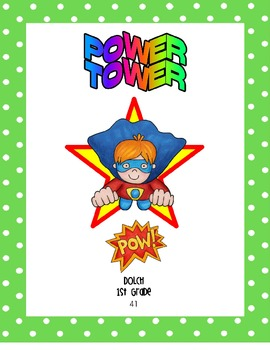 POWER TOWER Sight Word Can and Lid Covers