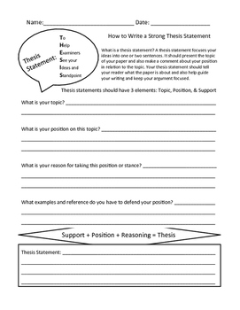 Writing Graphic Organizers & Thesis Statement Builder