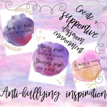 POWERFUL POSTERS for anti-bullying ~ create a supportive classroom environment