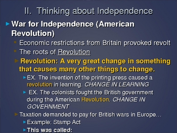 POWERPOINT - American colonization through American independence