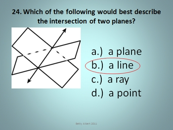 POWERPOINT: Geometric Intersections