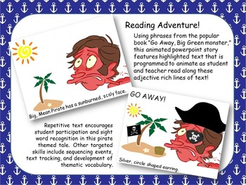 POWERPOINT Go Away! Big, Mean Pirate - Adapted Reader {Special Education}